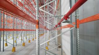 Racks for pallets - fire safety system