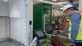 HMI of a vertical lift machine