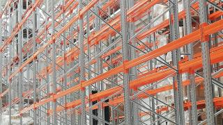 Conventional racking system for pallets