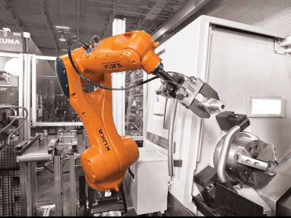 Welding, cutting and grinding industrial robots